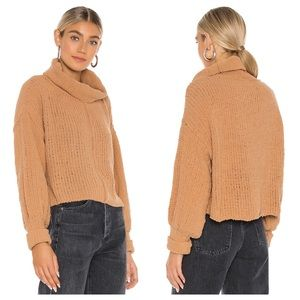 NWT Free People Be Yours Cowl Neck Sweater, Camel